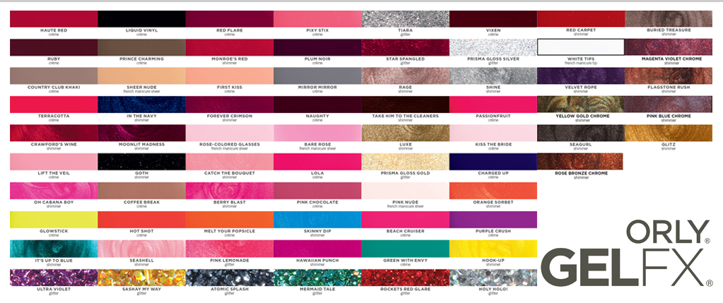 The Cur Swatch Of Available Shades