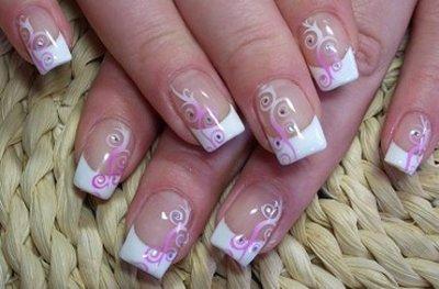 Todo sobre manos y pies manicure francesa con colores - Decoracion de unas francesa ...
