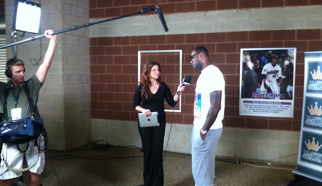 Rachel Nichols of ESPN and LeBron James
