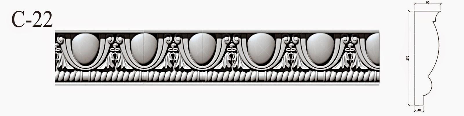 Cornisa Impodobita - Profile Decorative Fatada pentru fatade case. pret, producator