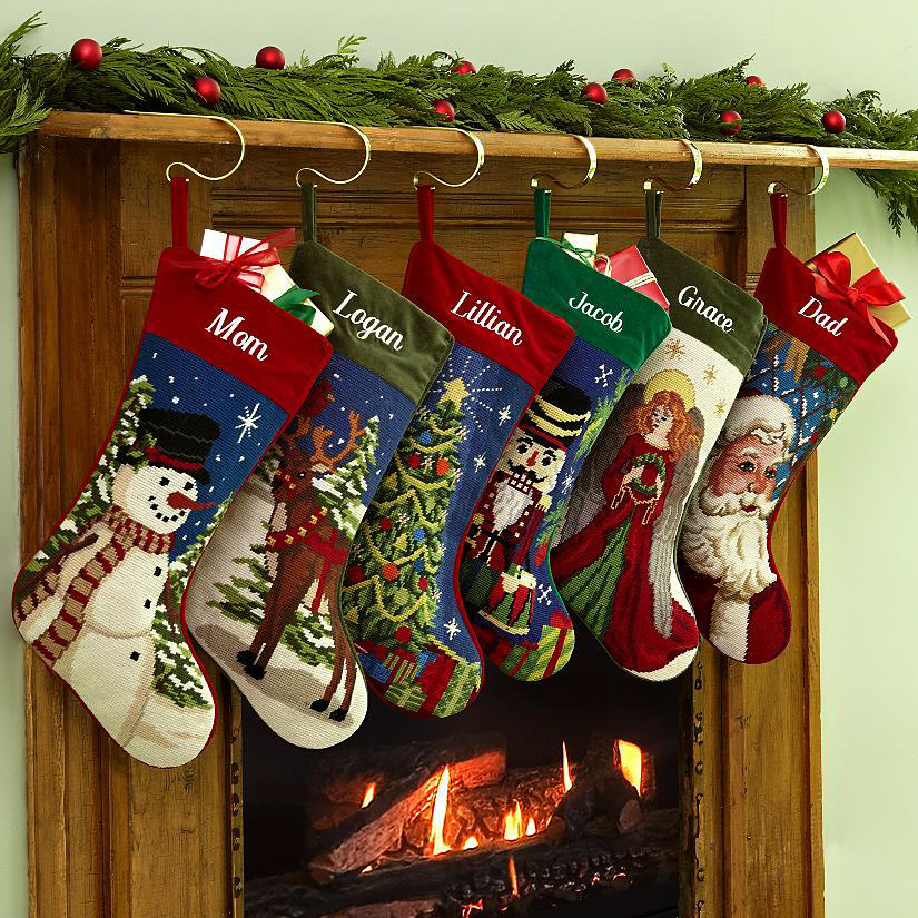 Monogramed Christmas Stocking