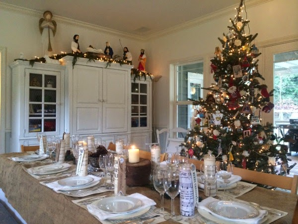 Lucy Maud Dining Room Christmas Buffet Little Farmstead A Farmhouse Home Tour