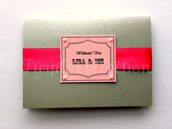 Grey Wedding Invitation Card, wedding invitation cards, malay wedding cards, grey card, handmade card, wedding