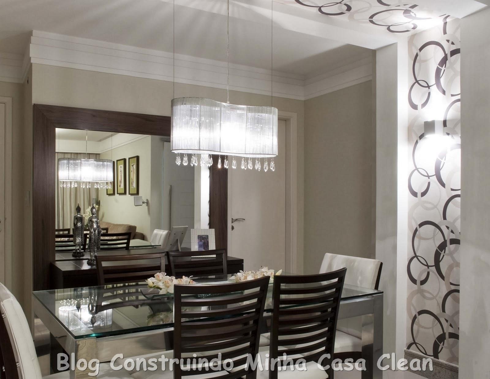 Construindo Minha Casa Clean Como Decorar A Sala De Jantar  -> Sala De Jantar Pequena Com Mesa De Marmore
