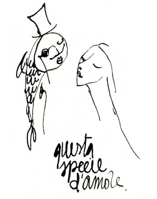 sirena pesce credere credo illustrazione yellowletters