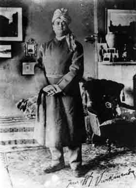 Swami Vivekanada, standing