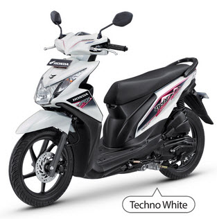 New Honda Beat Fi White matic injeksi PGM-Fi spesifikasi mesin dan harga - www.teknologiz.com