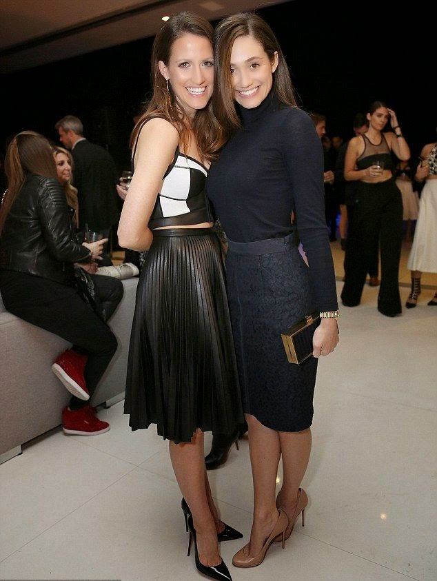 Wondering what girls meet to do as Emmy Rossum and Kelly Ruther ford are clearly in high spirit at Los Angeles, CA, USA on Sunday, January 17, 2015.