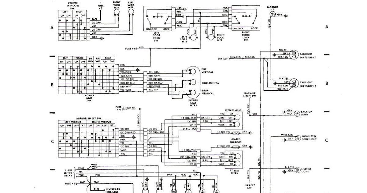 Free Auto Wiring Diagram  1987 Dodge Daytona Shelby Z Rear
