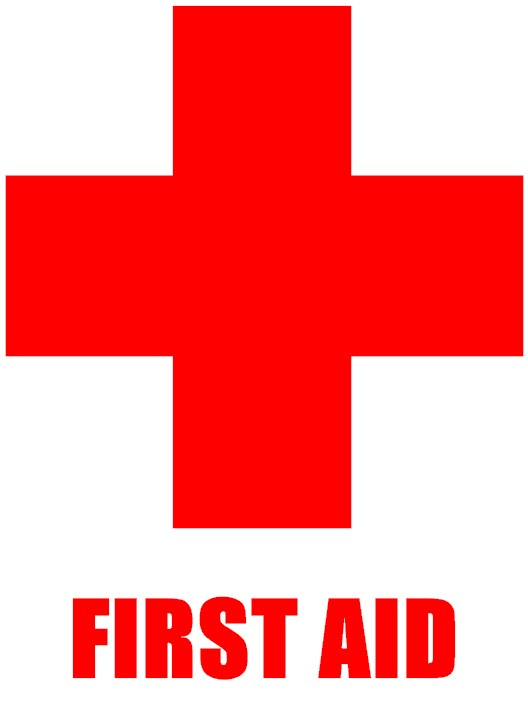 Witty image pertaining to first aid sign printable