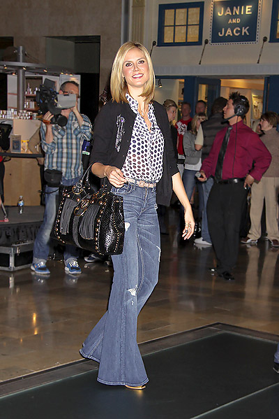 Heidi Klum high waisted pants