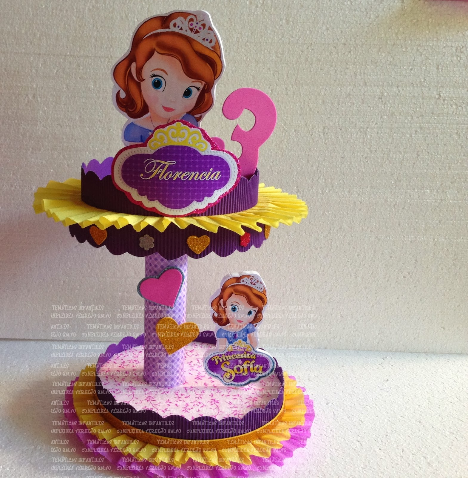 DECORACIONES INFANTILES: princesita sofia
