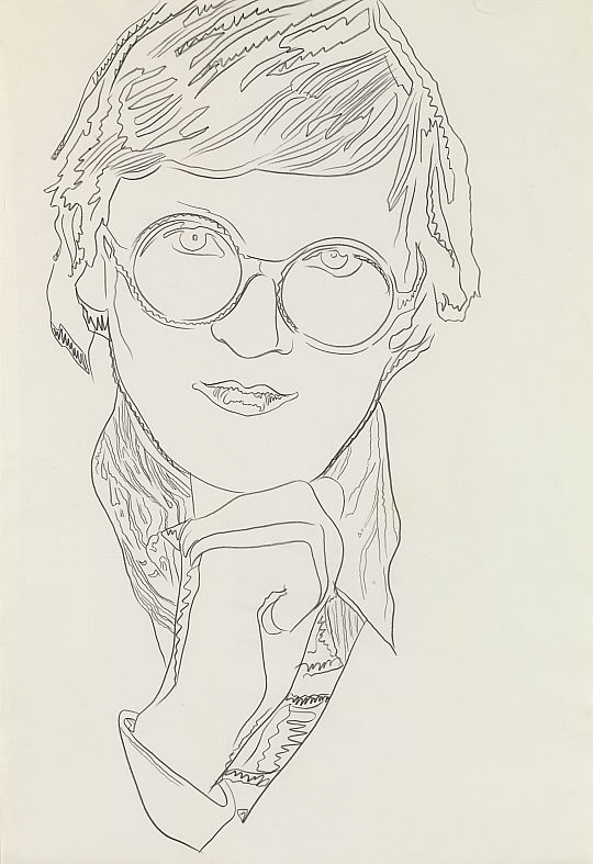 David Hockney Ink Drawings David Hockney