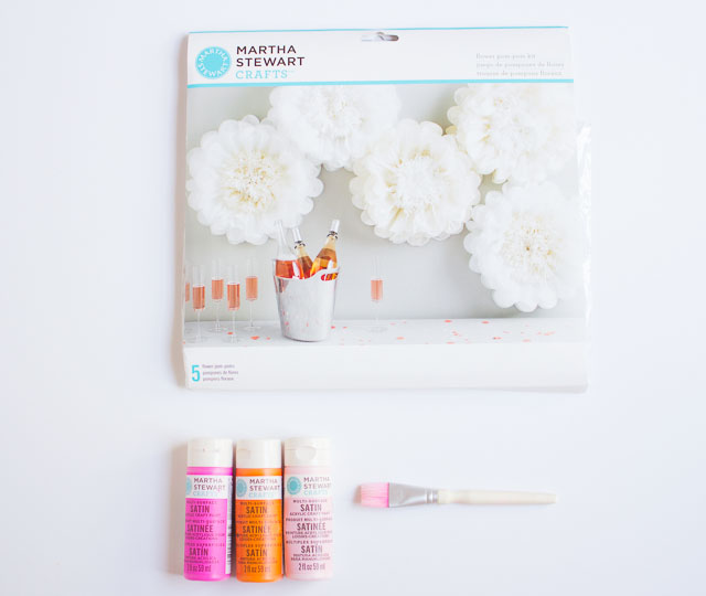 How to paint tissue paper pom poms design improvised martha stewart flower pom poms mightylinksfo