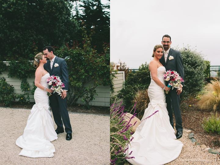 """""""first look half moon bay wedding photography"""""""