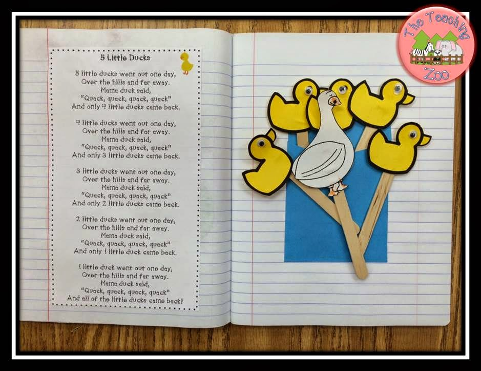 http://www.teacherspayteachers.com/Product/Five-Little-Ducks-Poetry-Pack-1531007