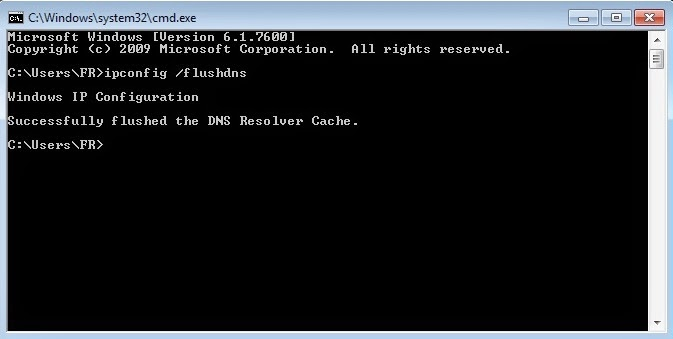 Flush DNS Cache Windows