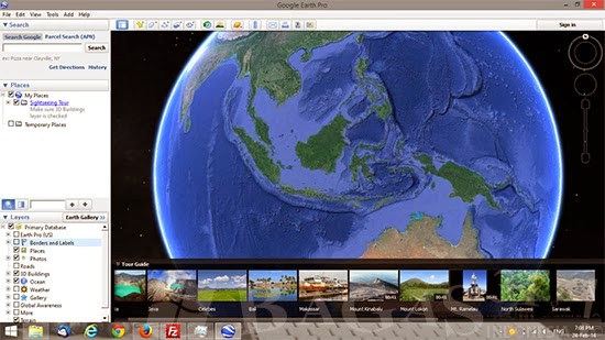 how to go to mars on google earth app