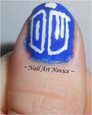 Doctor Who Logo Nail Art