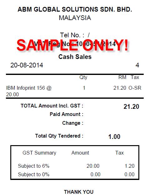 gst malaysia - go live 1 april 2015: malaysia gst - sap business, Invoice templates