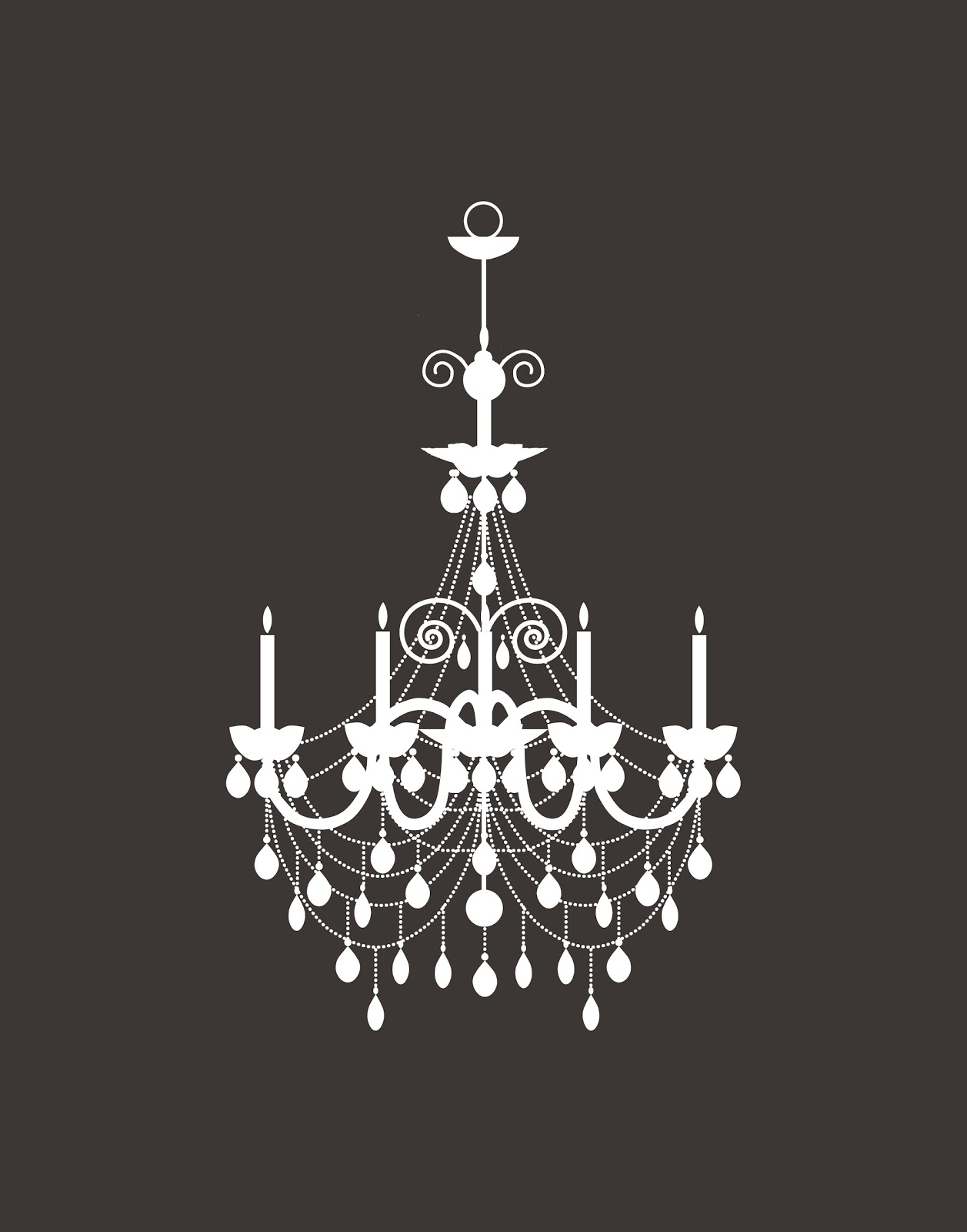 Marvelous I uve been working on a chandelier silhouette print for my daughter us room here it is