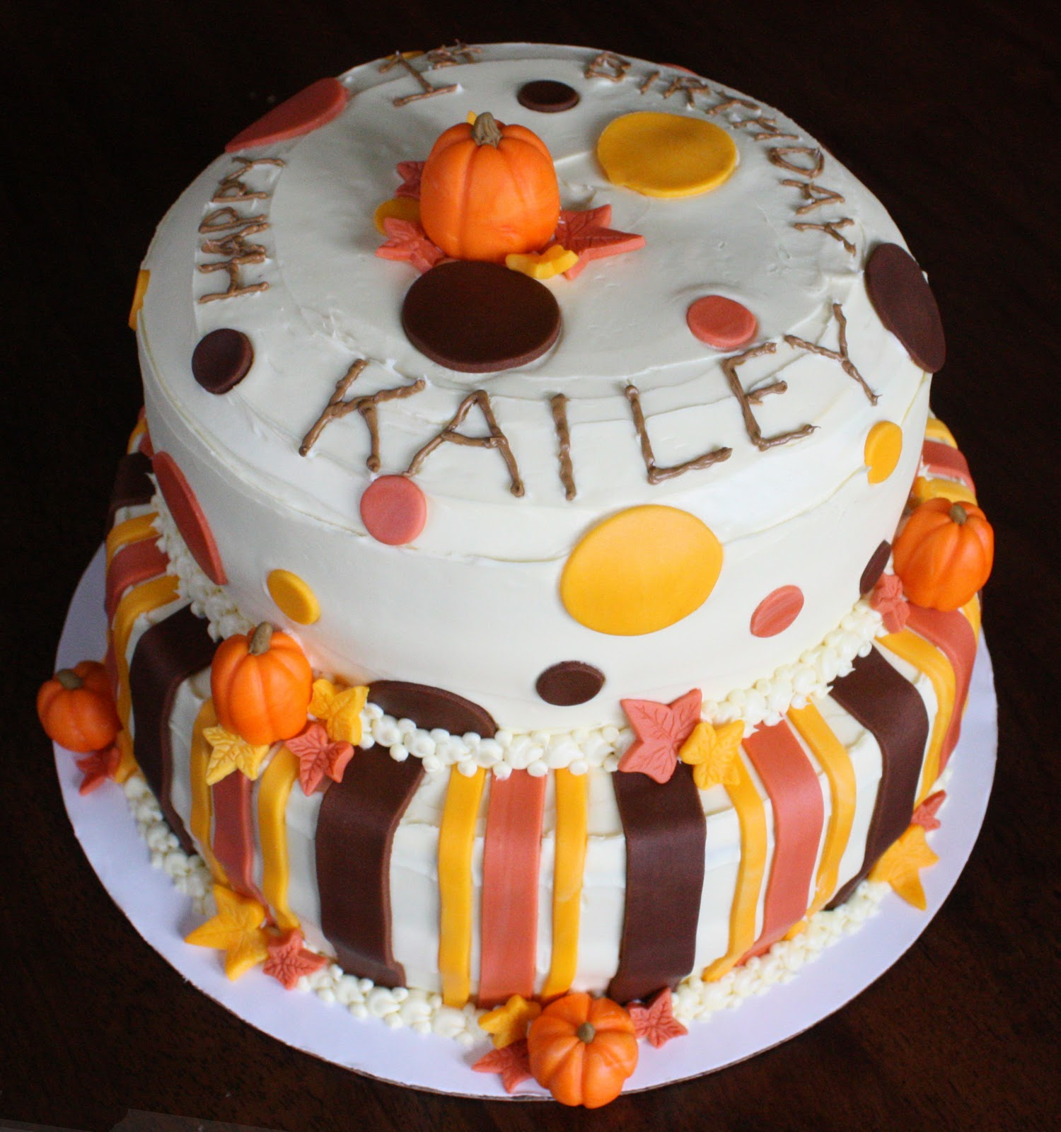 fall birthday cakes