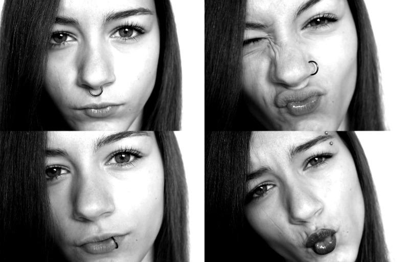 piercinger i ansigtet
