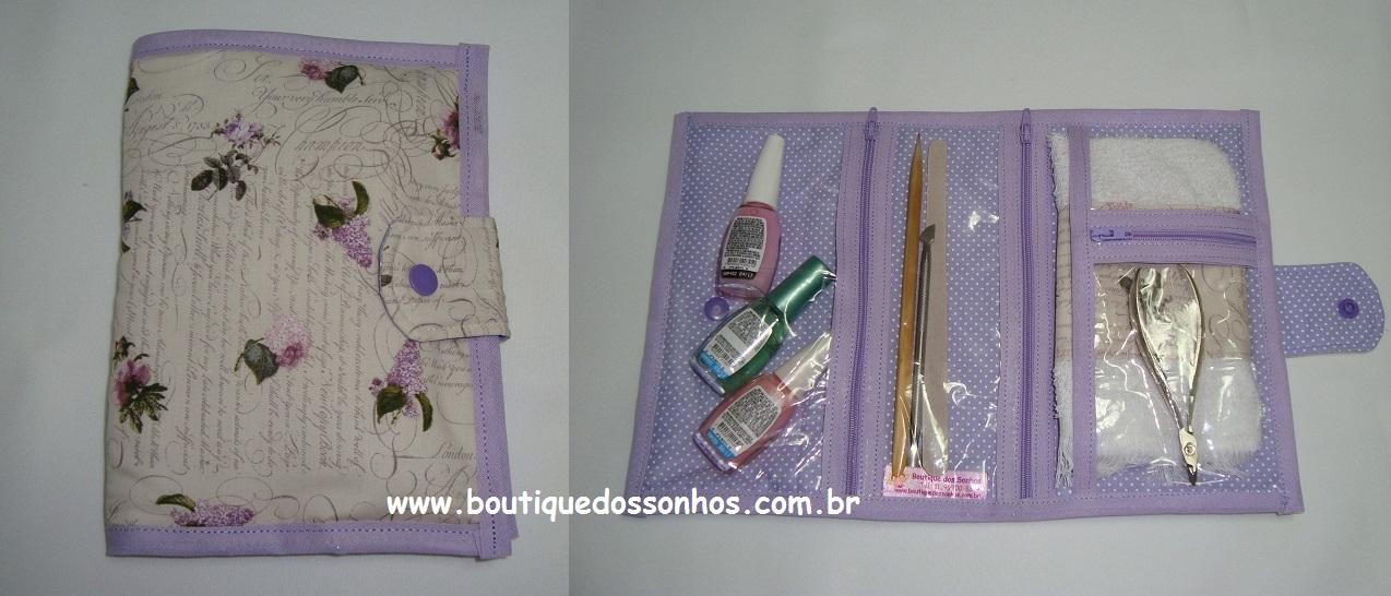 Bolsa Manicure Passo A Passo : Boutique dos sonhos passo a kit manicure para bolsa
