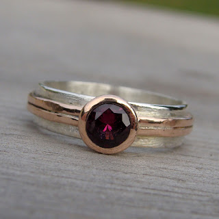 rose gold garnet