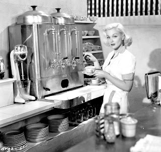 Some might remember cafés like this. Except, without the Internet. And the Jan Sterling.