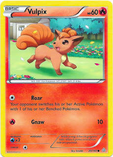 Vulpix Primal Clash Pokemon Card