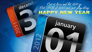 Free Download Happy New Year 2012 Calendar Wallpaper