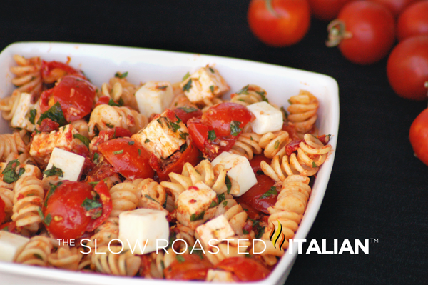 Tomato Feta Pasta Salad