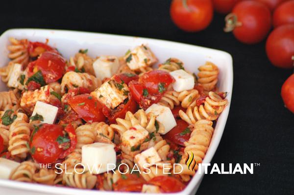 Tomato Feta Pasta Salad