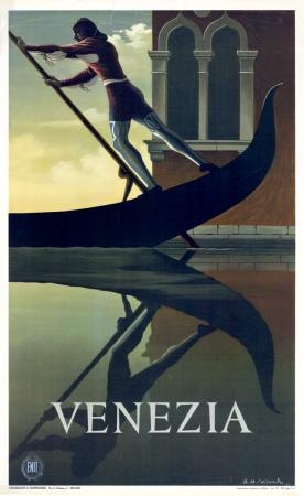 Vintage Travel Posters Venezia