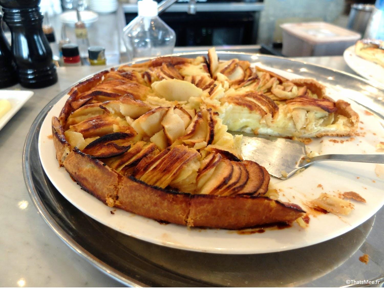 dessert tarte aux pommes brunch Le Beaumarchais Paris Bastille café restaurant, brunch pas cher à Paris Beaumarchais buffet dessert à volonté