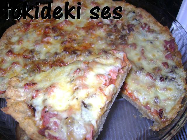 tokideki sesin bayat ekmekli pizza tarifi