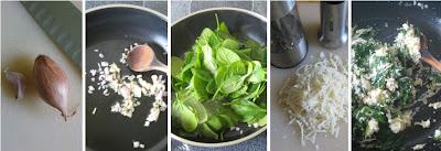 Zubereitung Ricotta-Spinat-Füllung