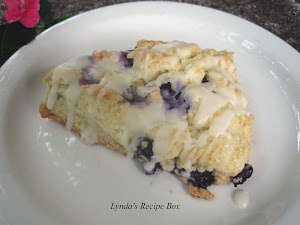 Blueberry Scones with Orange Glaze