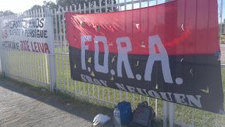 ACTIVIDAD DE PROTESTA POR LA REINCORPORACION DE JOSE LEIVA, DESPEDIDO Y PERSEGUIDO POR LOS EXPLOTADORES DE FLECHABUS