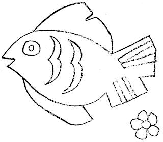 Manualidades - chiquitines -  Molde+pez