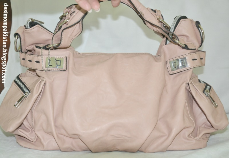 SWEET PINK FAKE -LEATHER SATCHEL PKR 700