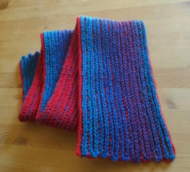Tvåfärgad halsduk