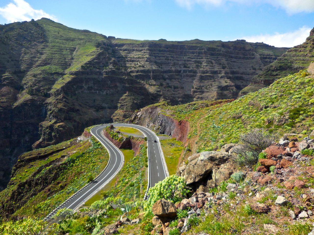 LA GOMERA ISLAND Canary Islands Old road into Valle Gran Rey to