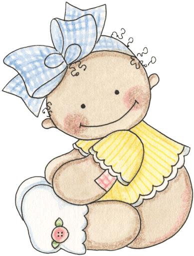 Bebita con lazo en la cabeza