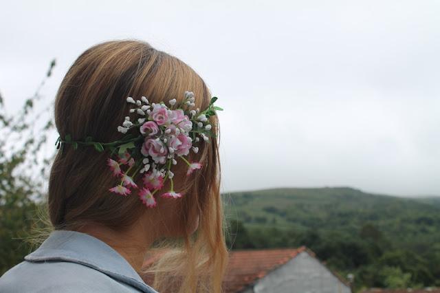 Diadema de Flores Topshop