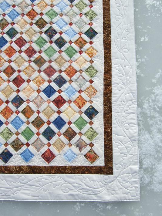 Hand Quilting Border Designs : Tamarack Shack: Oak Leaves