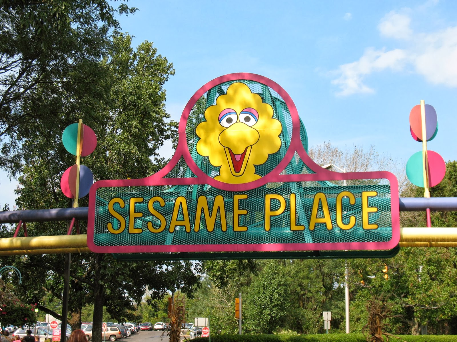 the entrance to sesame place - Sesame Place Halloween