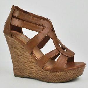 Women's Cute Fashion Wedge Heel Zip-Up Zipper Sandals Shoes Top Moda $13.85