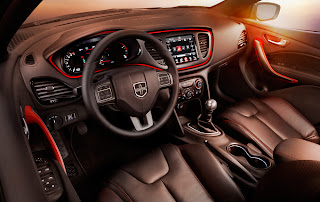 2013 Dodge Dart Limited - Upgraded Interior w/Sport Red Accents, Nappa Leather Seats and Contrasting Red French Stitching